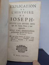 Load image into Gallery viewer, Explication de l'histoire de joseph, 1728. 1st Edition