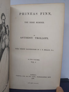 Phineas Finn, The Irish Member, 1869. 1st Edition