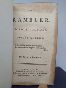 The Rambler, 1756. Fourth Edition