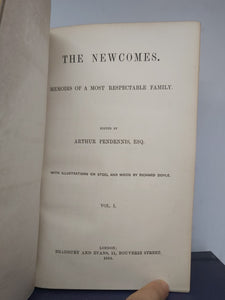 The Newcomes, 1854-55. First Edition