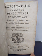 Load image into Gallery viewer, Explication Abregee Des Coutumes Et Ceremonies, 1790