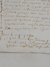 Load image into Gallery viewer, A Vellum document, August 24 1665