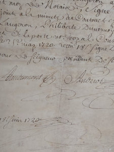 A Notarial Vellum Document May 4th, 1720