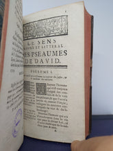 Load image into Gallery viewer, Le sens propre et littéral des pseaumes de David. 1745