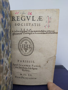 Regulae Societatis Jesu, 1620