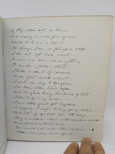Load image into Gallery viewer, Personal Commonplace Manuscript of Greville MacDonald, 1921