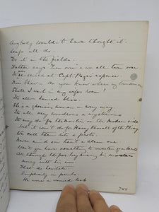 Personal Commonplace Manuscript of Greville MacDonald, 1921