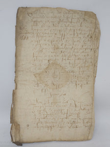 16th Century Manuscript, January 26 1588