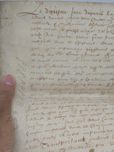 Load image into Gallery viewer, Vellum Manuscript, April 10th 1613