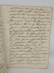 Division of Property for the Deceased Mathurin Goubault, April 6 1776