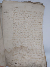 Load image into Gallery viewer, 17th Century Vellum Manuscript, 1600