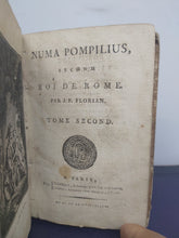 Load image into Gallery viewer, Numa Pompilius, second roi de Rome, 1794. Tome II