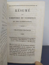Load image into Gallery viewer, Resume de l'histoire du commerce et de l'industrie, 1826
