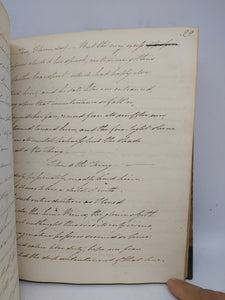 Handwritten Commonplace Book of Poetry of Barry Gorden Crealock, May 11 1820