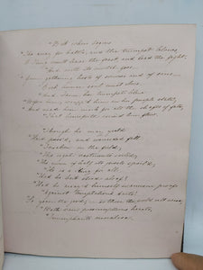 Handwritten Commonplace Book of Poetry, 1863
