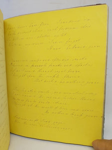 Handwritten Commonplace Book of Poetry, 1850
