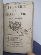 Load image into Gallery viewer, Histoire de Charles VII, 1754
