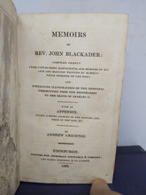 Load image into Gallery viewer, Memoirs of Rev. John Blackader, 1823