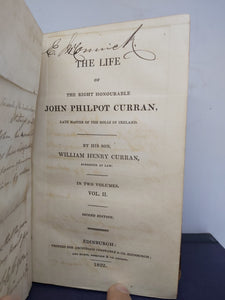 The life of the Right Honorable John Philpot Curran, life master of the rolls in Ireland, 1822