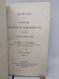 Memoirs of Sarah, Duchess of Marlborough, and of the court of Queen Anne, 1839