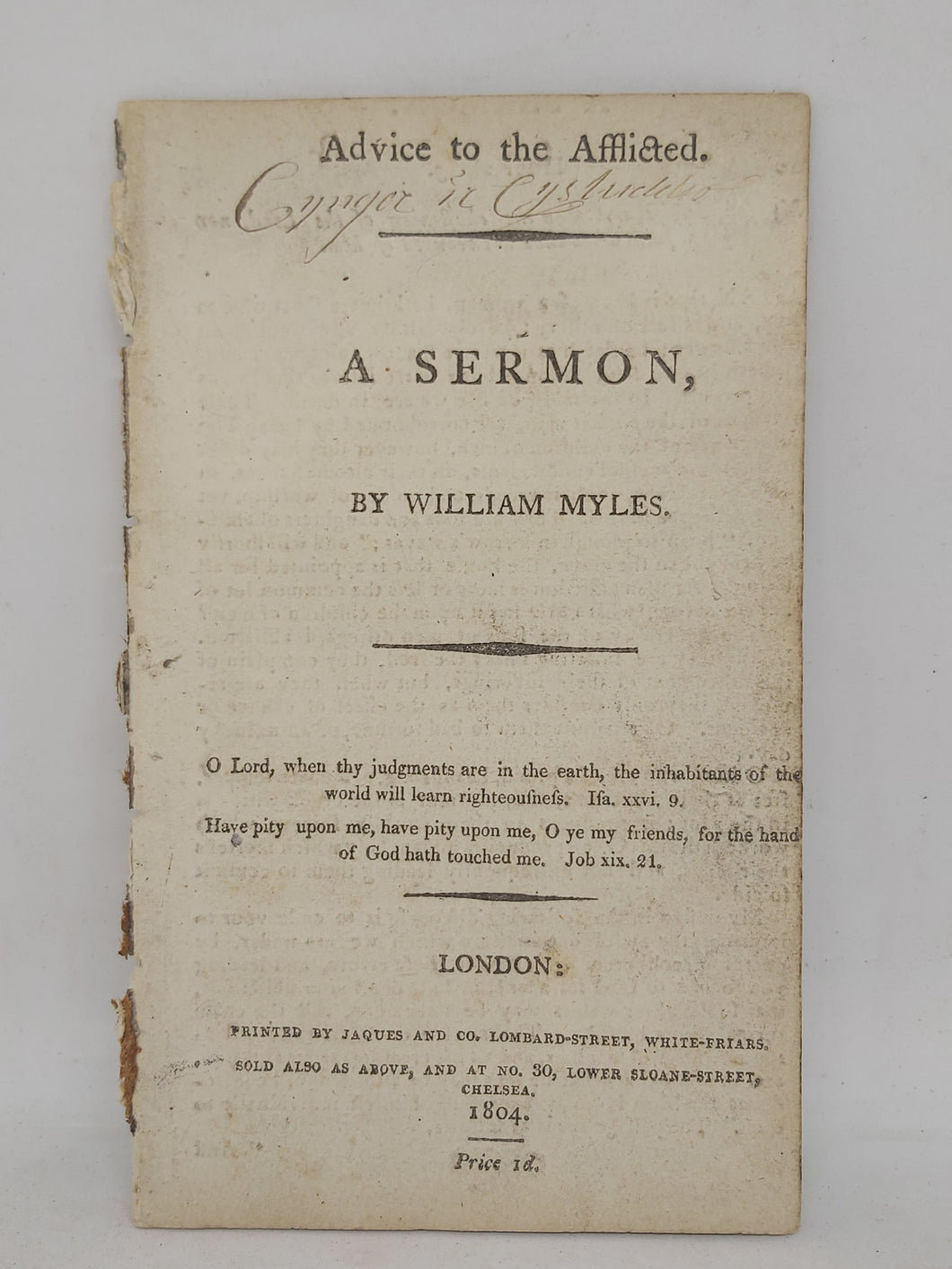 Advice to the afflicted: a sermon, 1804