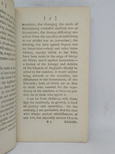 Considerations on the expediency of revising the liturgy and Articles of the Church of England: in which notice is taken of the objections to that measure, urged in two late pamphlets, 1790