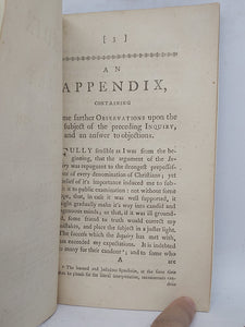An Appendix to an inquiry into the nature and design of Christ's temptation in the wilderness, 1765