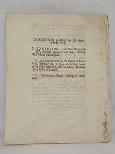 A sermon preached before the honourable House of Commons at St. Margaret's Westminster on Monday, January 31, 1743