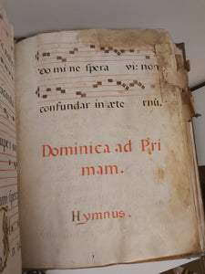 Prayer book on vellum of the diurnal offices, as well as the hymnal for the use of the choir, for the Holy Mother Santa Clara of Briviesca, 1764