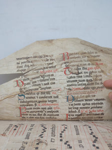 ***RESERVED*** Antiphonal Fragment bound in a Vellum Fragment, 17th century