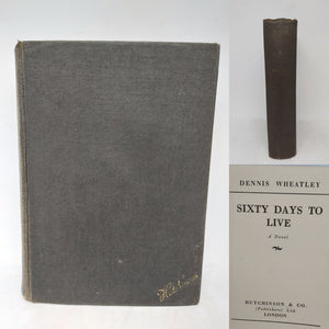 Sixty Days to Live. First Edition