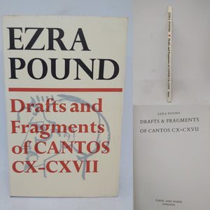 Drafts and Fragments of Cantos CX-CXVII, 1970. First Edition