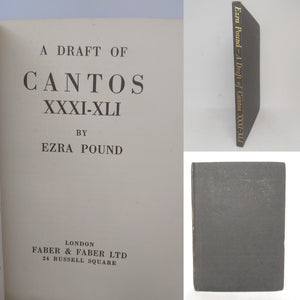 A Draft of Cantos XXXI-XLI, 1935. First Edition