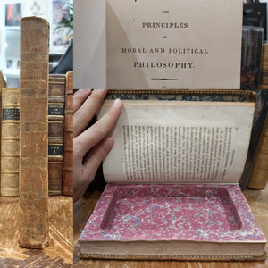 The Principals of Moral and Political Philosophy, 1809, Re-purposed as a book safe