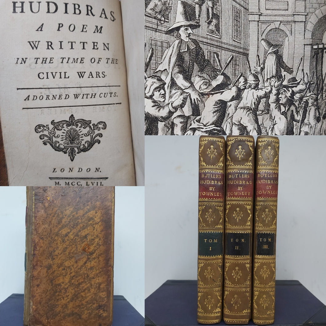 Hudibras, A Poem Written in the Time of the Civil Wars, 1757. 1st French and Dual Language Edition