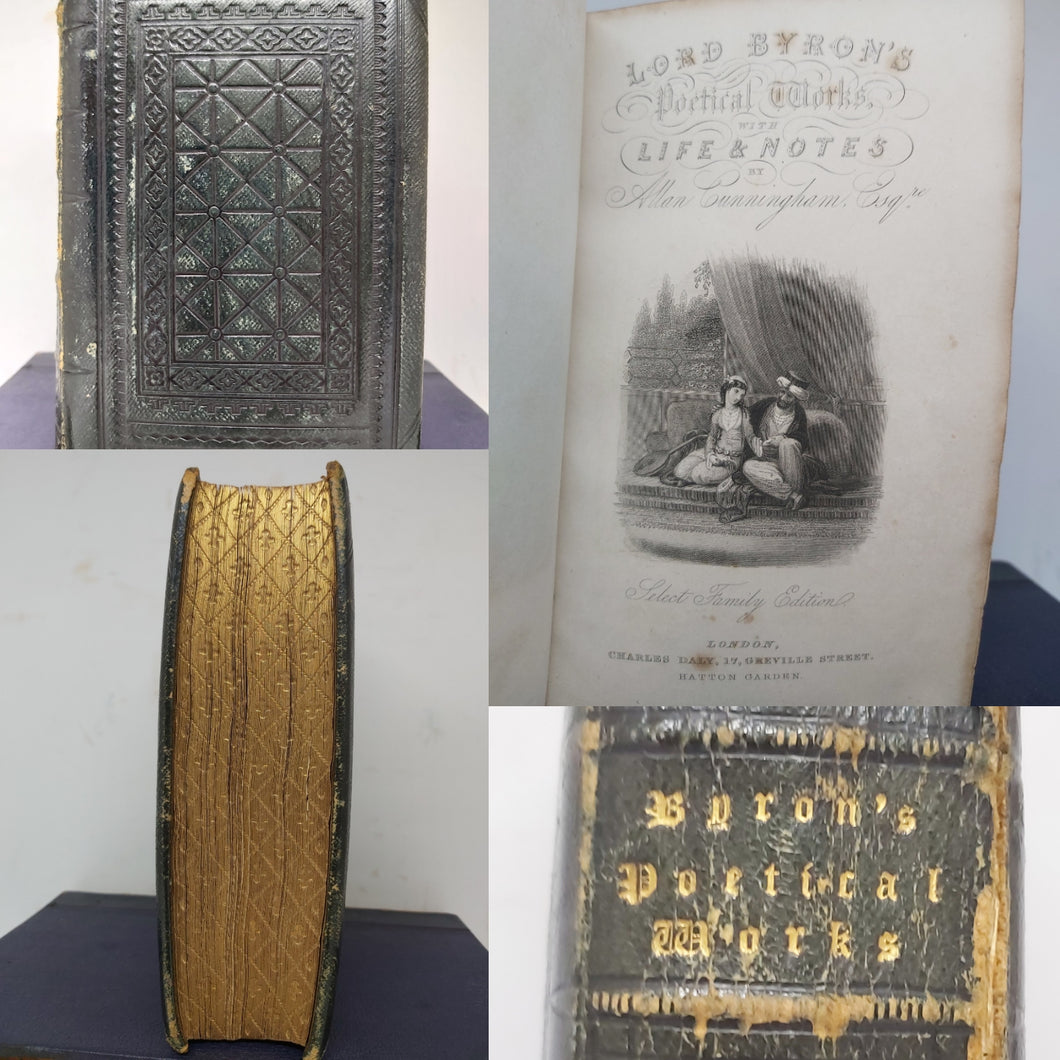 Lord Byron's Poetical Works, 1850(?), with gauffered edges