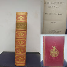 Load image into Gallery viewer, Lord Macaulay's Essays and Lays of Ancient Rome, 1890