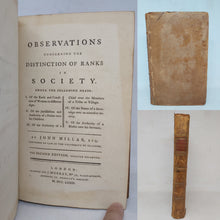 Load image into Gallery viewer, Observations concerning the distinctions on Ranks in Society, 1773. 2nd Edition