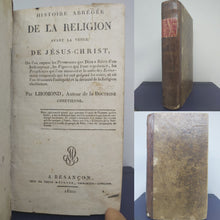 Load image into Gallery viewer, Histoire abregee de la religion avant la venue de Jesus-Christ, 1820