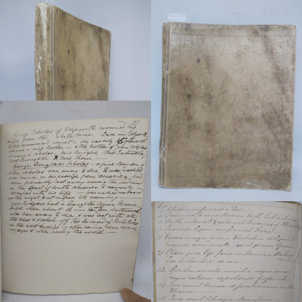 Handwritten Commonplace Book of Research for the Spencer Family, and earlier notes, June 20th, 1851