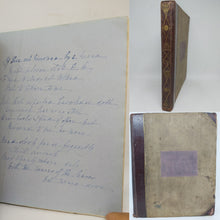 Load image into Gallery viewer, Handwritten Commonplace Book of Poetry, 1850