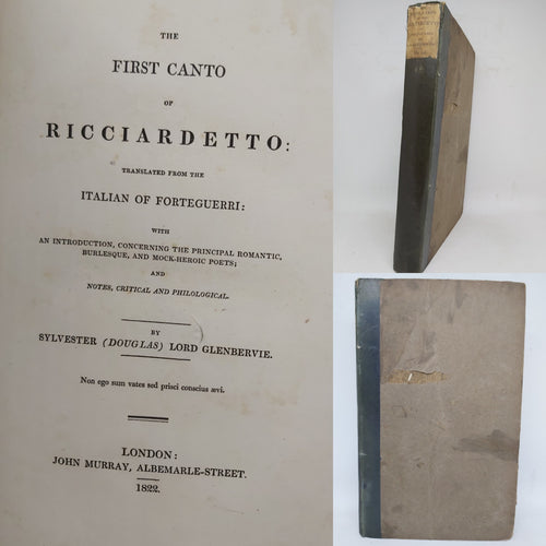 The First Canto of Ricciardetto, 1822