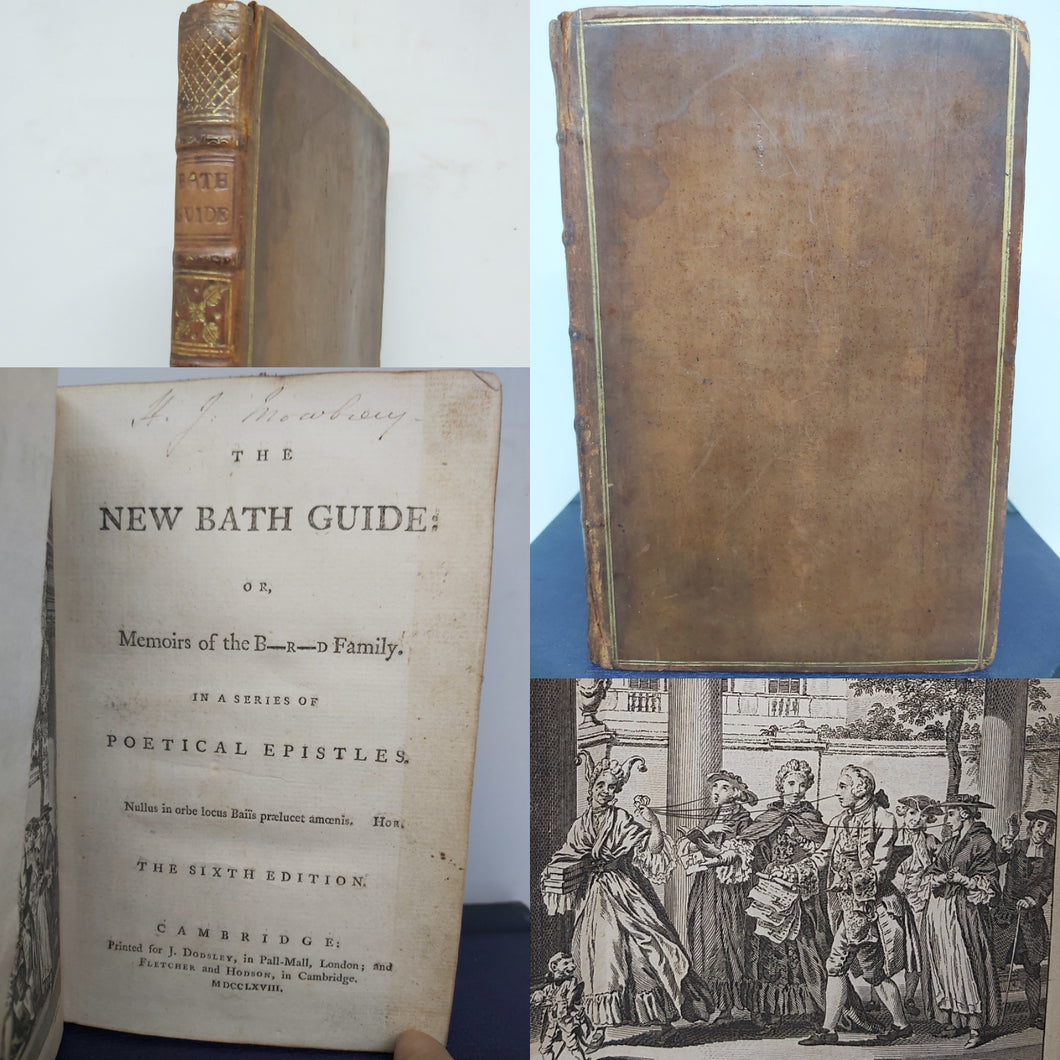 ***RESERVED*** The new Bath guide: or, memoirs of the B ---- r ----d family, 1768