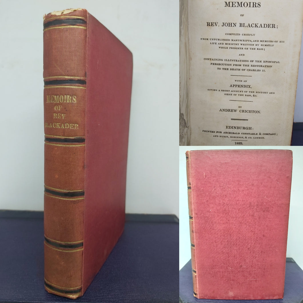 Memoirs of Rev. John Blackader, 1823
