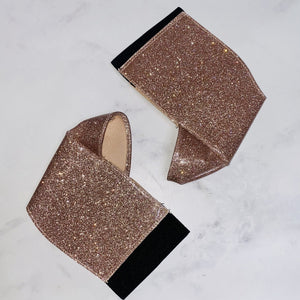 Exotique Shoe Protector - Champagne Glitter - 7-8 INCH