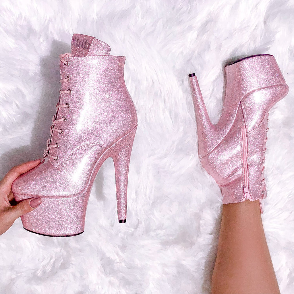 The Glitterati Ankle Boot - Sugarbaby - 7 INCH