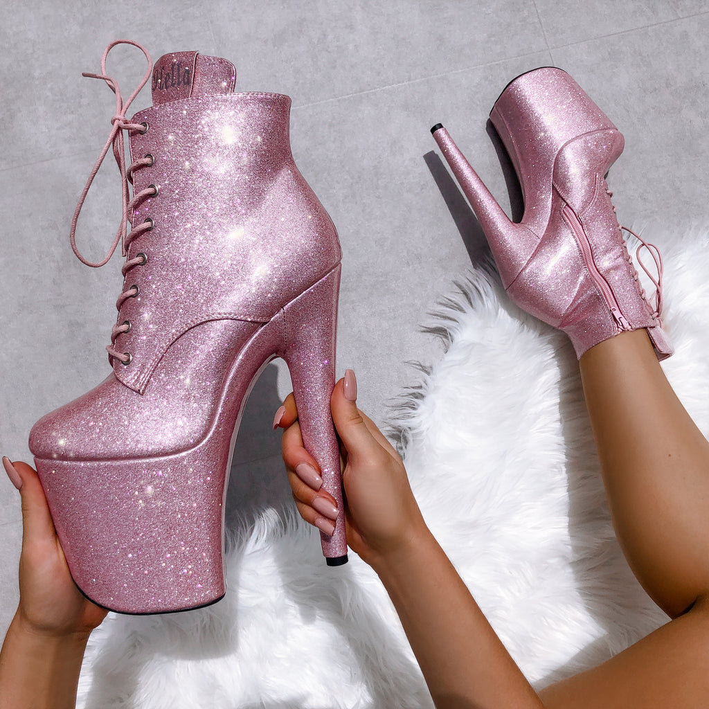 The Glitterati Ankle Boot - Sugarbaby - 8 INCH