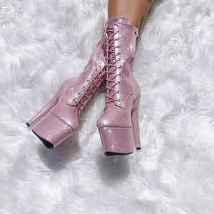 The Glitterati Boot - Sugarbaby - 7 INCH
