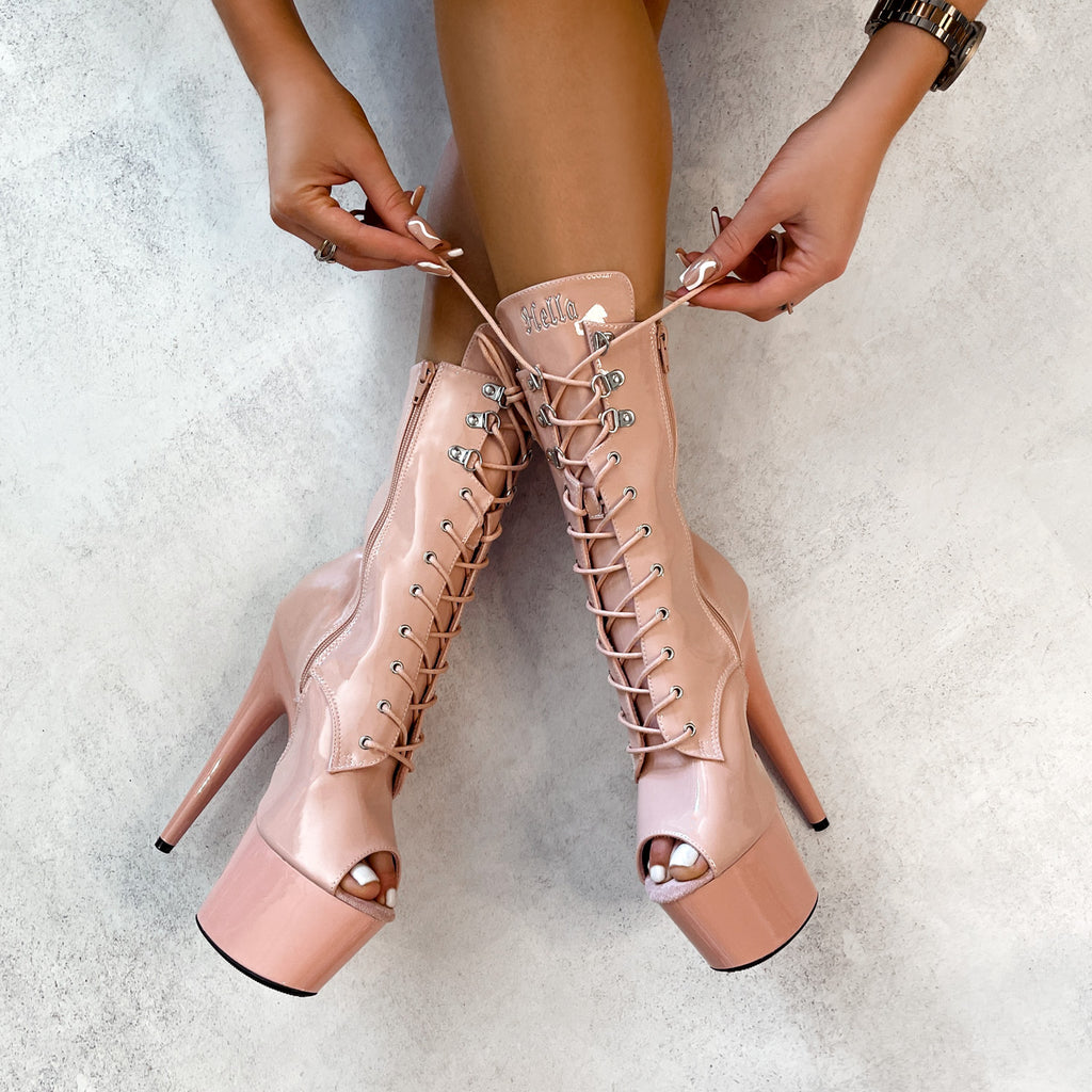 LipKit Boot Open Toe - Dream On - 7 INCH