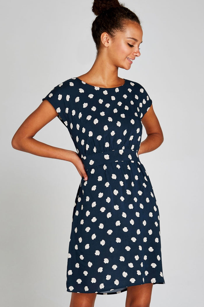 Shell Dress Navy